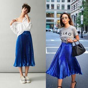 NWT Anthroploge Gemma skirt in sapphire blue
